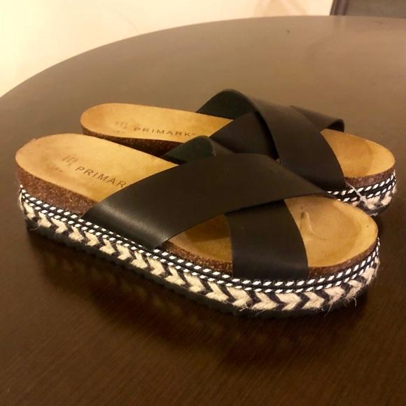 Nwt Primark Platform Espadrille Sandals